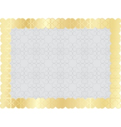 background with golden frame vector image vector image
