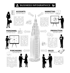 Business people infographics vector image