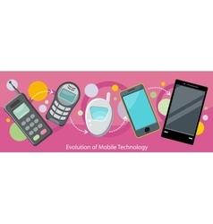 Evolution of Mobile Technology Design Flat vector image
