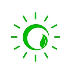 Green plant icon simple style vector image