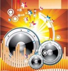 music equalizer background vector image