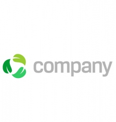 recycle leaves logo vector image vector image