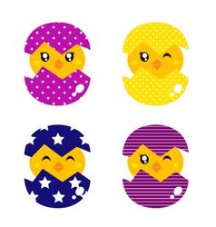 Retro happy chicken vector image vector image