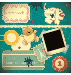 scrapbook vintage vector image vector image