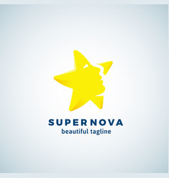 super nova abstract sign emblem or logo vector image vector image