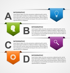 Abstract infographics design template vector image vector image