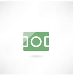 football field icon vector image vector image
