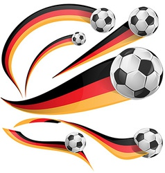 germany flag with soccer ball vector image
