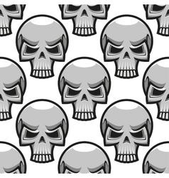 Seamless skulls pattern in cartoon style vector image