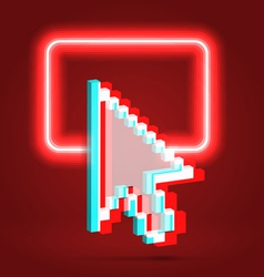 Shining dialog window over red vector image