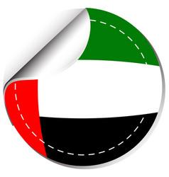 sticker design for flag of arab emirates vector image vector image
