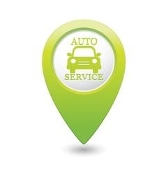 Auto service icon on green pointer vector