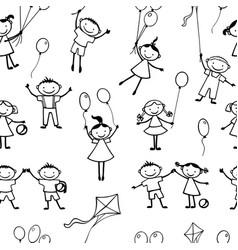 background playful kids vector image