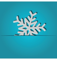 background with paper snowflake vector image
