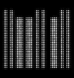 barcode halftone icon vector image