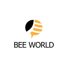 bee world logo vector image
