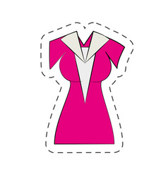 Beuty dress cartoon comic vector