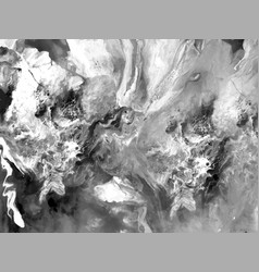 black and white liquid marble texture fluid art vector image