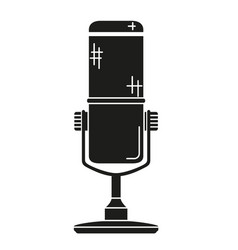 black and white wireless mic silhouette vector image