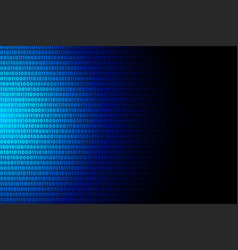 blue digital binary code data numbers background vector image