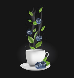 blueberry tea vector image