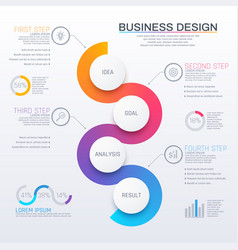 business infographic with round elements vector image