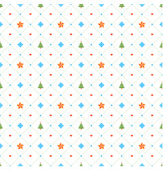 christmas seamless pattern with stars and vector image