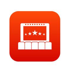 cinema icon digital red vector image
