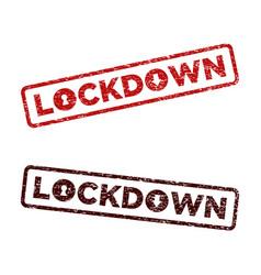 Covid19-19 corona virus lock down rubber stamp vector