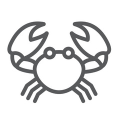 Crab line icon animal and underwater vector