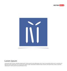 Cricket bails icon - blue photo frame vector