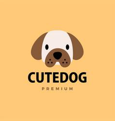 cute dog flat logo icon vector image