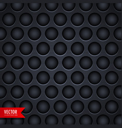 dark metal texture background with holes vector image