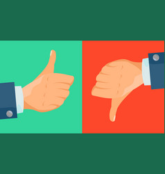 Dislike and like icon thumbs up thumbs vector
