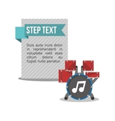 Drum music sound infographic vector