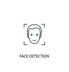 face detection concept line icon simple element vector image