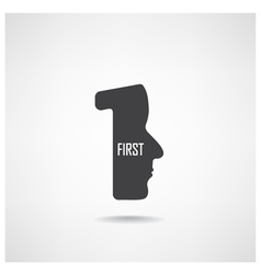 first sign vector image