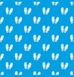 flip flops pattern seamless blue vector image