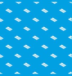 floor tiles pattern seamless blue vector image