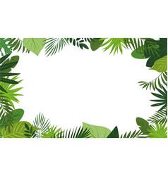 fresh rainforest concept banner cartoon style vector image
