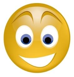 Genuinely surprised joyful smile vector