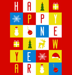 Greeting card for the new year collected from vector