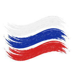 Grunge brush stroke with national flag of russia vector