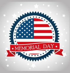 Happy memorial day emblem vector