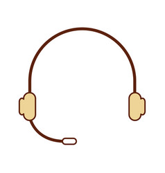 Headset device isolated icon vector