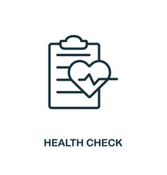 health check icon outline style thin line vector image