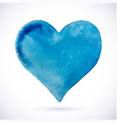 heart blue natural watercolor vector image