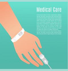 Hospital patient hand vector