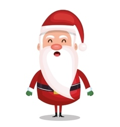 icon santa claus merry christmas design vector image