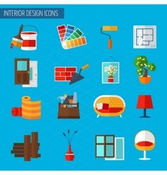 Interior design icons vector